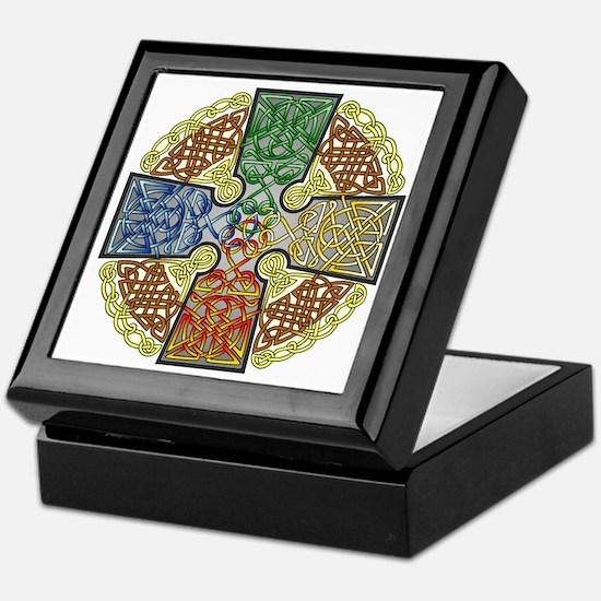Elemental Celtic Cross Keepsake Box