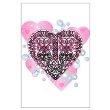 Celtic Hearts Large Poster
