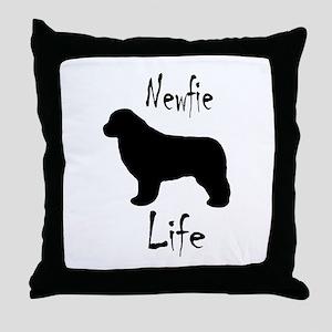 Newfie Life II Throw Pillow