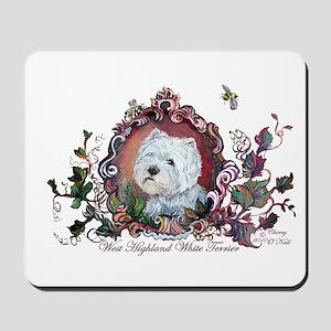 Westie Portrait Dog Art Mousepad