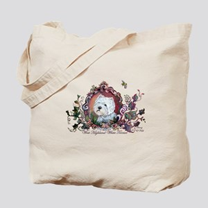 Westie Portrait Dog Art Tote Bag