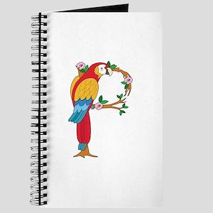 Animal Alphabet Parrot Journal