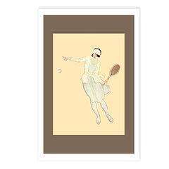 Art Deco Tennis Girl Postcards (package Of 8)