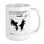 Shampoo, the Oil Spill Cleaning Whale Large Mug