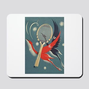 Birds WIth Racket - Tennis Mousepad