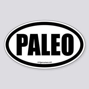 Paleo auto decal Sticker (Oval)