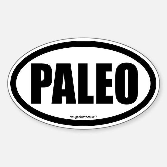 Paleo auto decal Sticker (Oval)