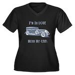 Love Car Duesenberg Women's Plus Size V-Neck Dark