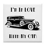 Love Car Duesenberg Tile Coaster