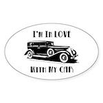 Love Car Duesenberg Sticker (Oval)