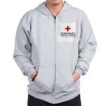 Temporary Organ Donor Zip Hoodie
