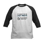 Last Minute - Nothing Done Kids Baseball Jersey