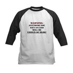Anything You Say Will be Used Kids Baseball Jersey