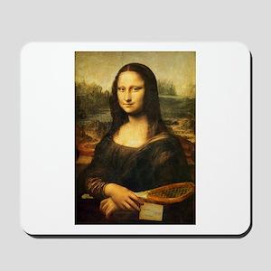 Mona Lisa Smile - Tennis Mousemat