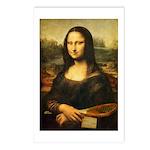 Mona Lisa Tennis Postcards (package Of 8)