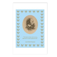 Lord Alfred Tennison Postcards (package Of 8)