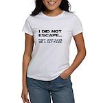 I Did Not Escape Women's T-Shirt