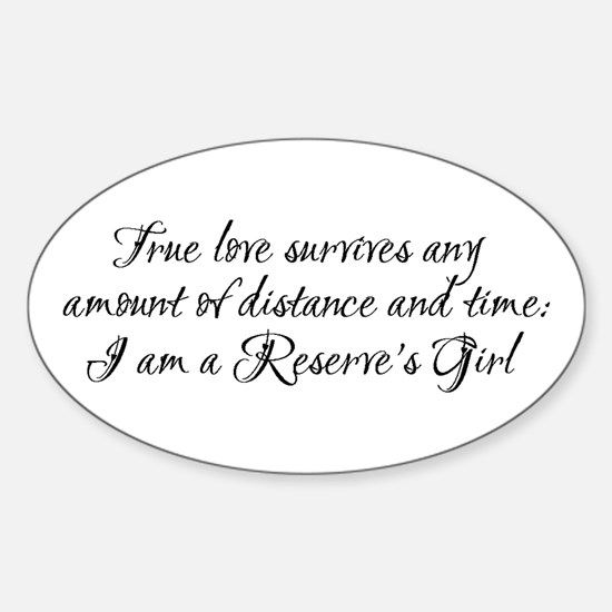 True Love Survives Sticker (Oval)