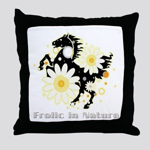Frolic in Nature Throw Pillow