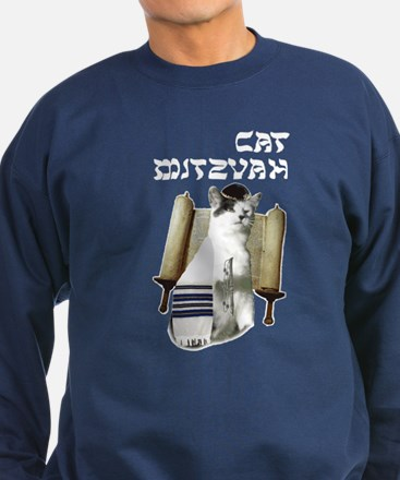 Cat Mitzvah Sweatshirt (dark)