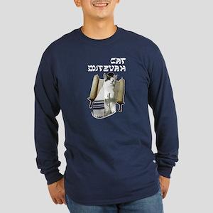 Cat Mitzvah Long Sleeve Dark T-Shirt