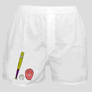 BAT, BALL & GLOVE *3* Boxer Shorts