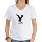 Eagle Hydraulics Inc. Women's V-Neck T-Shirt