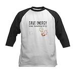 Save Energy Wear Dirty Kids Baseball Jersey