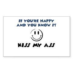 If You're Happy and You Know Sticker (Rectangle)
