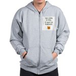 The Liver is Evil It Must Be Punished Zip Hoodie