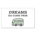 Dreams Do Come True Sticker (Rectangle 10 pk)