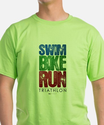 Swim, Bike, Run - Triathlon T-Shirt