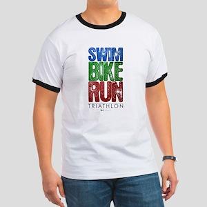 Swim, Bike, Run - Triathlon Ringer T