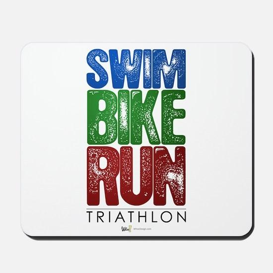 Swim, Bike, Run - Triathlon Mousepad
