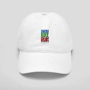 Swim, Bike, Run - Triathlon Cap