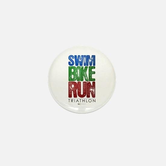 Swim, Bike, Run - Triathlon Mini Button