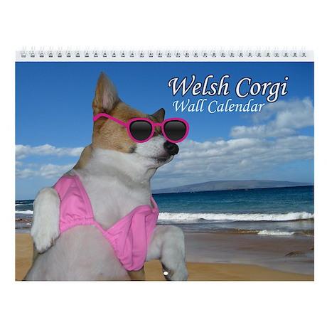 Cute Corgi Wall Calendar