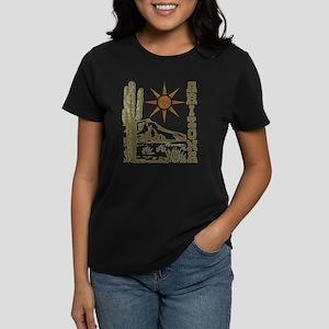 Vintage Arizona Cactus Women's Dark T-Shirt