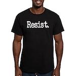 Resist Anti-Trump Libe Men's Fitted T-Shirt (dark)