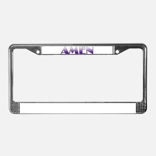 AMEN License Plate Frame