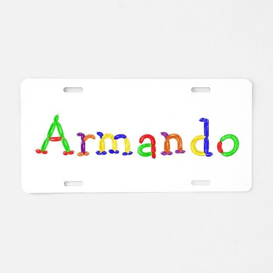 Armando Balloons Aluminum License Plate