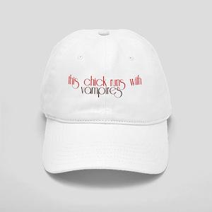 This Chick Runs With Vampires Cap