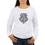I'm Trying To See Things... Women's Long Sleeve T-
