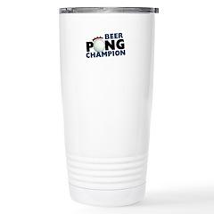 Beer Pong Champion Stainless Steel Travel Mug