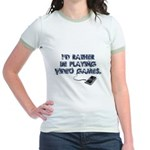I'd Rather Be Playing Video Games Jr. Ringer T-Shi