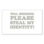 Steal My Identity Sticker (Rectangle 50 pk)