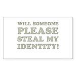 Steal My Identity Sticker (Rectangle 10 pk)