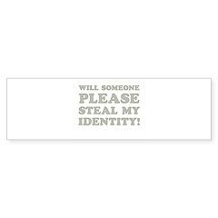 Steal My Identity Sticker (Bumper 10 pk)