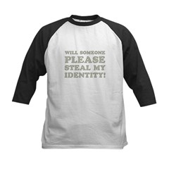 Steal My Identity Kids Baseball Jersey