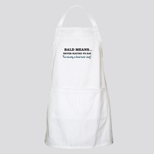 Bald Means... Apron